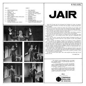 Jair Rodrigues - Jair (1967)-BACK