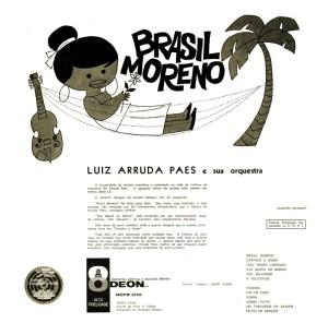 Luiz Arruda Paes e Sua Orquestra - Brasil Moreno (1960)-BACK