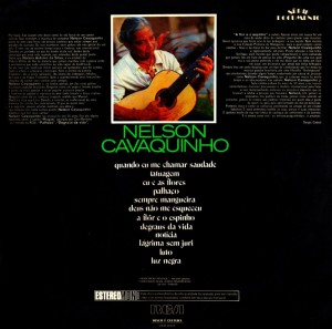 Nelson Cavaquinho - Serie Documento (1972)-BACK