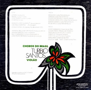 Turibio Santos - Choros do Brasil (1977)-BACK