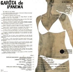 Garota de Ipanema - OST (1967)-BACK