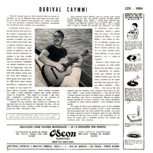 Dorival Caymmi - Cancoes Praieiras (1954)-BACK