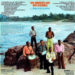 Os Originais do Samba - Alegria de Sambar (1975)-BACK