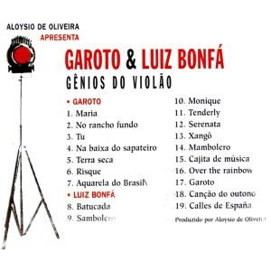 Garoto & Luiz Bonfá - Gênios Do Violao-Back