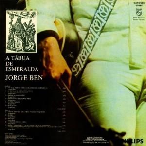 Jorge Ben - A Tábua De Esmeralda-Back