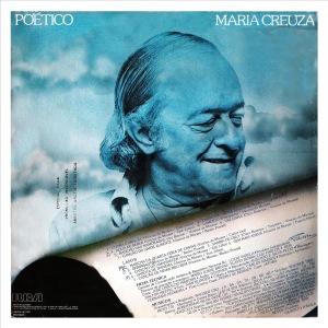 MARIA CREUZA-POÉTICO 1982 Contracapa