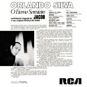Orlando Silva - O Eterno Seresteiro-Back