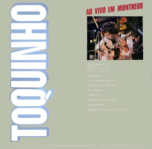 Resultado de imagem para Ao Vivo em Montreux (1982) TOQUINHO