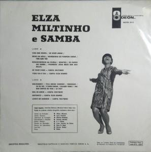Elza Miltinho E Samba (1967)Back