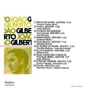 João Gilberto - Back